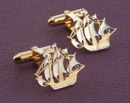 British Half Penny Cuff Links, Great Britain Cuff Links, British Coin Jewelry, Great Britain Gifts, Mens Cuff Links, Mens Gifts , ( # 134C )
