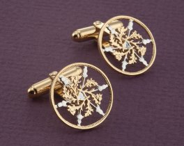British Six Pence Cuff Links, British Six Pence Jewelry, Great Britain Cuff Links, British Gift Ideas, British Coin Jewelry, ( # 129C )