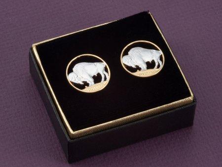 Buffalo Nickel Cuff Links, United States Cuff Links, Buffalo Cuff Links, United States Coin Jewelry, Mens Gifts, Cuff Links, ( # 310C )