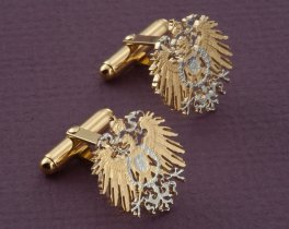 German Eagle Cufflinks, German One Mark Coin Cufflinks, German Coin Jewelry, German Eagle Jewelry, Mens Cufflinks, (  # 114C )