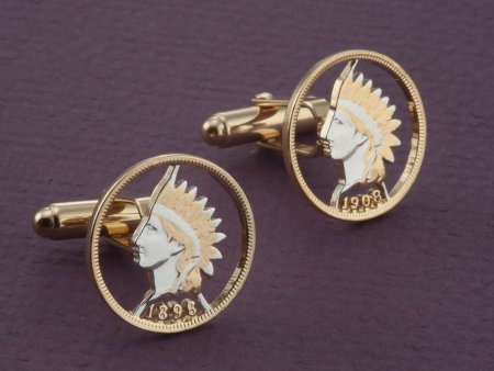Indian Head Cuff Links, Indian Head Penny Cuff Links, United States Coin Jewelry, Cuff Links, Mens Gifts, World Coin Jewelry, ( # 307C )