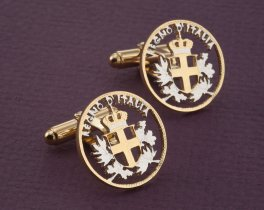 Italy Coin Cuff Links, Italian Cuff Links, Italian Coin Jewelry, Italy Gift Ideas, Italian Gifts, Italian Jewelry, Mens Gifts, ( # 195C )
