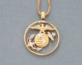Marine Corp Pendant, Marine Corp Necklace, US Marine Jewelry, Military Jewelry, Military Gifts, Mens Jewelry, Womans Jewelry, ( # 753 )