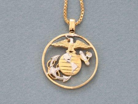 Marine Corp Pendant, Marine Corp Necklace, US Marine Jewelry, Military Jewelry, Military Gifts, Mens Jewelry, Womans Jewelry, ( # 753 )