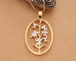 Orchid Pendant, Orchid Jewelry, Floral Jewelry, Flower Jewelry, Jewelry For Woman, Gifts For Woman, Necklace For Woman, Orchids ( # 800 )