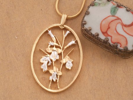 Orchids Pendant And Necklace, Floral Jewelry, Flower Gifts Ideas, Jewelry For Woman, Necklaces For Woman, Womans Gifts Ideas, ( # 827 )