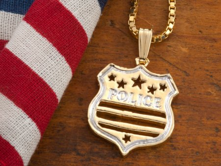 Police Shield Pendant, Police Shield Necklace, Law Enforcement Jewelry, Law Enforcement Gifts Ideas, Police Force Gifts Ideas, ( # 806B )