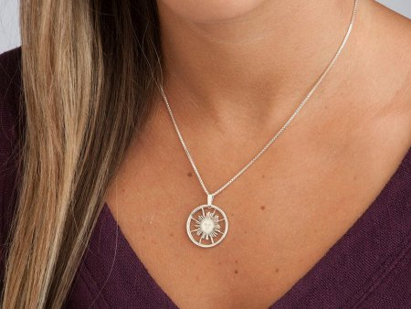 """Silver Sun Pendant and Necklace, Hand cut Peruvian Sunface coin, Sterling Silver Mystical Jewelry, 7/8"""" in diameter, ( # 253S )"""