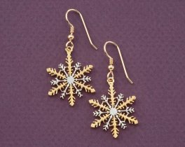 Snowflake Earrings, Snowflake Jewelry, Womans Earrings, Gifts For Woman, Seasonal Jewelry, Winter Jewelry, Unique Gift Ideas, ( # 892BE )