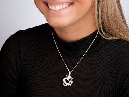 """Sterling Silver Chinese Dragon Pendant, Hand Cut Chinese Dragon Coin, Silver Dragon Necklace, 1"""" in Diameter, ( # 72S )"""