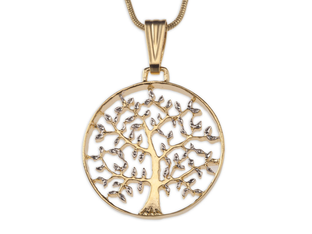 tree of life coin pendant