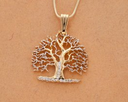 Tree of Life Pendant & Necklace, Hand Pierced Medallion, ( # 874B )