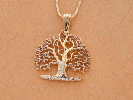 Tree of Life Pendant & Necklace, Hand Pierced Medallion, ( # 874B )
