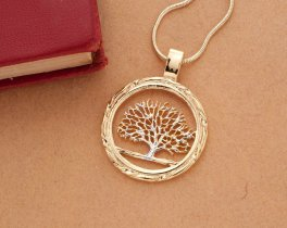 Tree of Life Pendant, United States Quarter Hand Cut, ( # 720 )