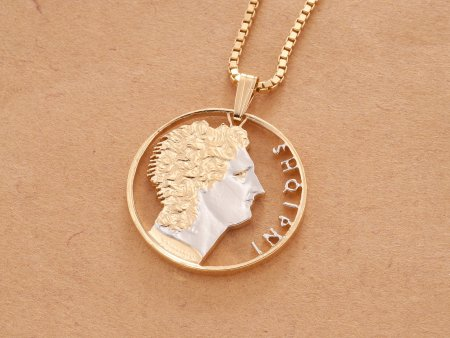 Albanian Coin Necklace, Albanian Pendant, Albanian Coin Jewelry, Albanian Necklace, Jewelry For Woman, Jewelry For men, ( # 899 )