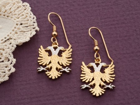 Albanian Eagle Earrings, Albanian Jewelry, Albanian coin Jewelry, Womans Earrings, Albanian Gifts, Coin Earrings, Coin Jewelry, ( # 929BE )
