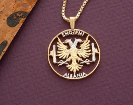 Albanian Eagle Pendant and Necklace (#929)