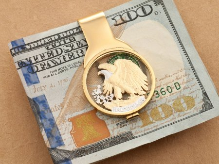 American Eagle Money Clip, United States Coin Jewelry, Eagle Money Clip, Mens Gifts, Cut Coin Jewelry, Coin Jewelry, Money Clips, ( # 320M )
