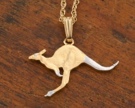Australian Kangaroo Necklace, Kangaroo Necklace, Kangaroo pendant, Australian Coin Jewerly, Jewelry For Woman, Wildlife Jewelry, ( #7 )