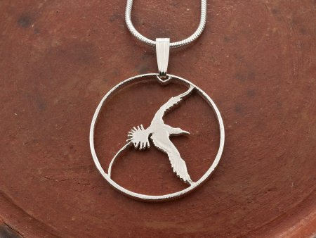 Bermuda Long Tail Pendant, Bermuda Coin Jewelry. Bird Jewelry, Womans Jewelry, Coin Jewelry, Pendant Necklace, Coin Pendant, ( # 38S )