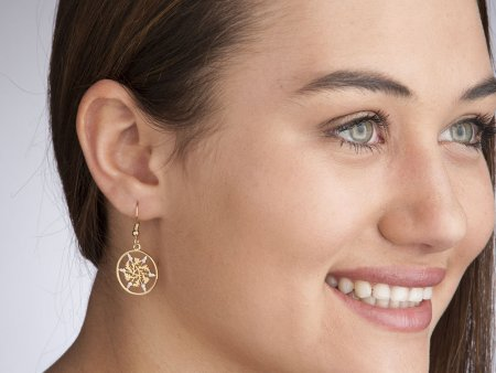 """British Six Pence Earrings, British Six Pence hand Cut, 14 K Gold and Rhodium Plated, 3/4"""" in Diameter, 14 K Gold Filled Ear Wires, ( # 129E"""