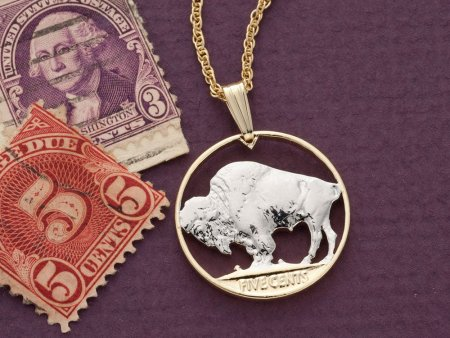 "Buffalo Pendant, Buffalo Nickle Pendant, Buffalo Nickel Jewelry, United States Coin Jewelry, 3/4"" diameter, ( # 310 )"