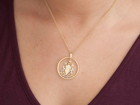 "Canadian Half Dollar Pendant, Hand cut Canada Half Dollar Royal Seal, Canadian Coin Jewelry, 1 1/8 "" in Diameter, ( # 426 )"