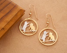 Cat Earrings. Cat Jewelry, Cat Gift Ideas, Tonkinese Cat Earrings, Tonkinese Cat Jewelry, Jewelry For Woman, Cat Coin Jewelry, ( # 803E )