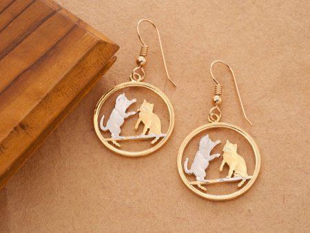 Cat Earrings. Cat Jewelry, Cat Gift Ideas, Tonkinese Cat Earrings, Tonkinese Cat Jewelry, Jewelry For Woman, Cat Coin Jewelry, ( # 803E )