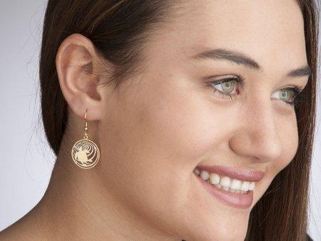 """Cayman Islands Turtle Earrings, Hand Cut Cayman Islands 10 Cents Turtle Coins, Turtle Jewelry, Turtle earrings, 3/4"""" in Diameter, ( # 58E )"""