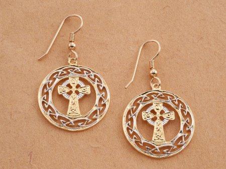 Celtic Cross Earrings, Celtic Earrings, Celtic Jewelry, Irish Earrings, Irish Jewelry, Jewelry For Woman, Earrings For Woman, ( # 906E )