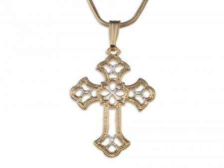 Celtic Cross Pendant & Necklace , Hand cut Celtic Cross Medallion, ( # 815 )
