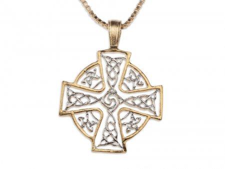Celtic Cross Pendant & Necklace Hand Cut Medallion, ( # 905 )