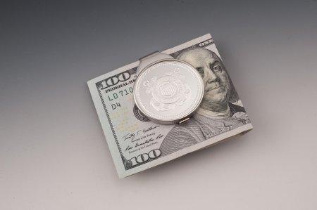 "Coast Guard Money Clip, United States Coast Guard Gifts, Military Money Clips, Military Gifts, 1 1/2"" in diameter, ( # CGSUSM )"