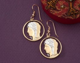 Greek Earrings, Greek Coin Jewelry, Greek Jewelry, Greek Mythology Jewelry, Ethnic Coin Jewelry, Jewelry For Woman, Earrings , ( # 898E )