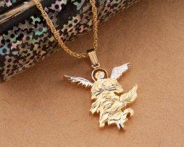 "Guardian Angle Pendant, Guardian Angle Jewelry, Angel Jewelry, Angel Pendant, Religious Jewelry, 1 1/8"" long, ( # 680)"