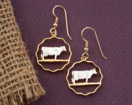 Guernsey Cow Earrings, Guernsey Cow Jewelry, Cow Earrings, Farm Animal Jewelry, Wild Life Jewelry, Jewelry For Woman, Earrings ,( # 153E )