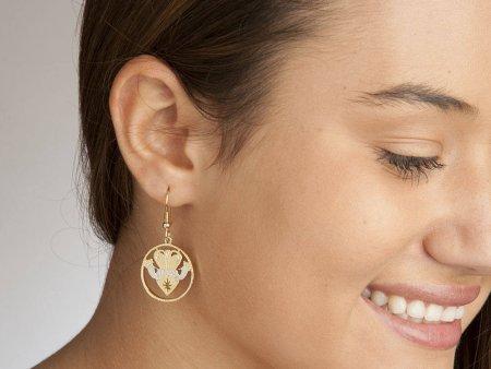 "Irish Claddah Earrings, Hand Cut Irish Claddah Medallions, Irish Claddah Gifts, Irish Jewelry, 1"" in Diameter, ( # 835BE )"