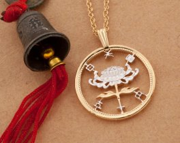 """Japanese Coin Jewelry, Japanese Coin Pendant, Japanese Jewelry, Oriental Coin Jewelry, 1"""" in diameter , ( # 216D )"""