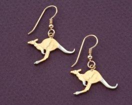 Kangaroo Earrings, Kangaroo Jewelry, Australian Coin Jewelry, Australian Earrings, Wild Life earrings, Jewelry For Woman,  ( # 7E )