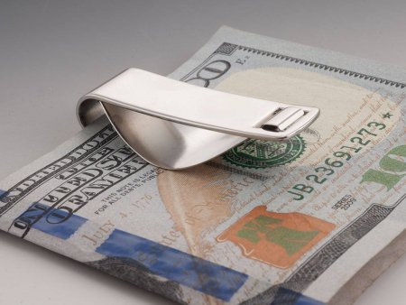 """Kennedy Half Dollar Money Clip. United States Half Dollar Money Clip, Coin Money Clip, Coin Jewelry, 1 1/4"""" in Diameter ( # 319SUM )"""