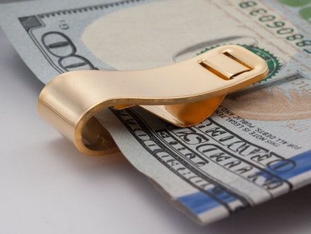 Morgan Silver Dollar Money Clip, United States Morgan Dollar Money Clip,( Lady Side)  14 K Gold Plated Money Clip, 1 1/4 x 2( # 324UM )