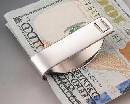"""Navy Money Clip, United States Navy Money Clip, United States Navy Gifts, Military Gifts, 1 1/2"""" in diameter, ( # NSUSM )"""