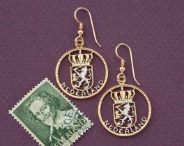Netherland Earrings, Netherland Coin Jewelry, Dutch Coin Jewelry, Ethnic Jewelry, Earrings For Woman, Coin Earrings, ( # 236E )
