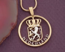 Netherlands Pendant, Netherlands Coin Jewelry, Dutch Pendant, Dutch Jewelry, Ethnic Jewelry, World Coin Jewelry, Coin Pendant, ( # 236 )