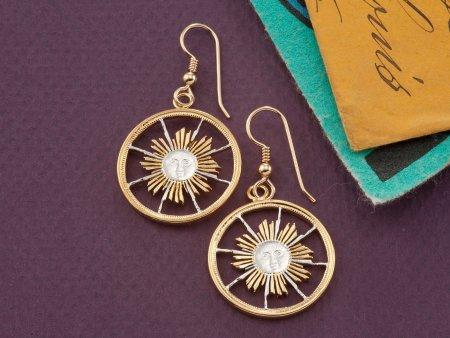 Peruvian Coin Jewelry, Sun Face Earrings, Astrological Jewelry, Mystical Jewelry, Earrings for Woman, Gifts For Woman,Coin Jewelry, (# 253E)