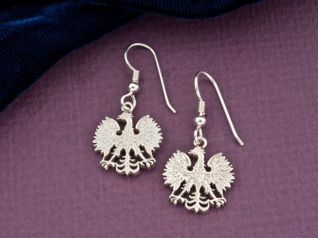 Polish Eagle Earrings, Poland Coin Jewelry, Coin Earrings, Coin Jewelry, Earrings for Woman, Jewelry For Woman, Silver Earrings, ( # 254ES )