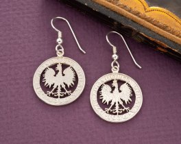 Polish Eagle Earrings, Poland Coin Jewelry, Eagle Earrings, Coin Jewelry, Jewelry For Woman, Earrings For Woman, Etsy Jewelry, ( # 259ES )