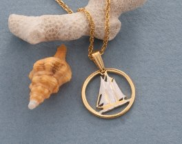 Sailboat Pendant, Bluenose Schooner penadnt, Bluenose Pendant, Sailboat Jewelry, Nautical Jewelry, Nautical Gifts, Sailboat Gifts, ( # 51 )