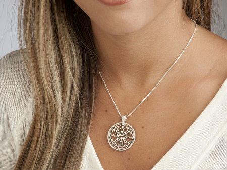 """Silver British Coin Jewelry, Hand cut Great Britain Trade Dollar, Sterling Silver Coin Jewelry, 1 1/4"""" diameter, ( # 833S )"""